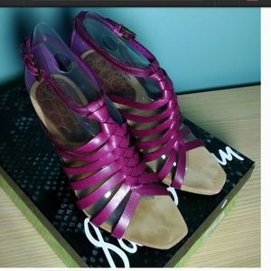 Sam Edelman SAVILLE Leather sandal Purple 7.5M